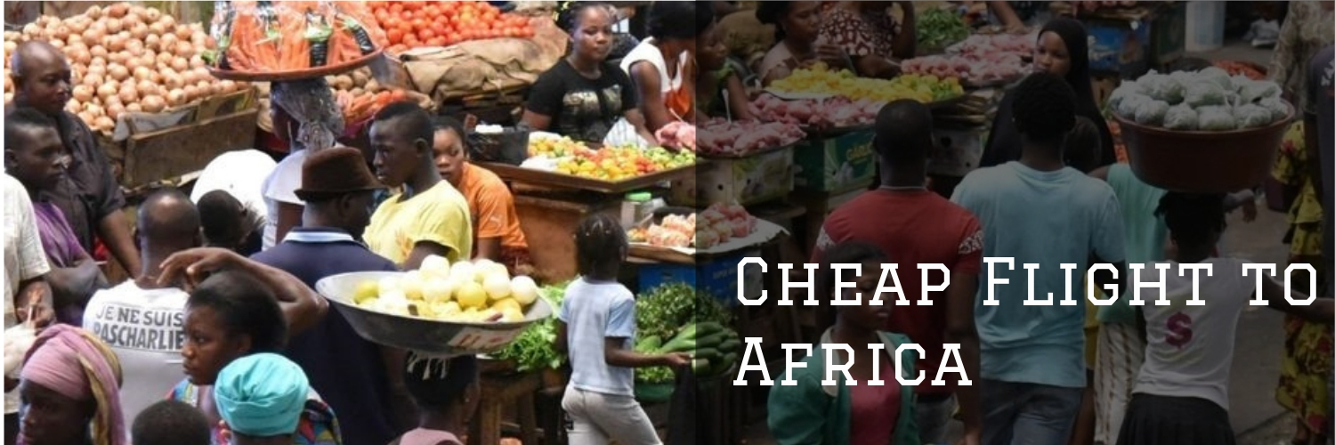 Cheap Flights to Africa banner