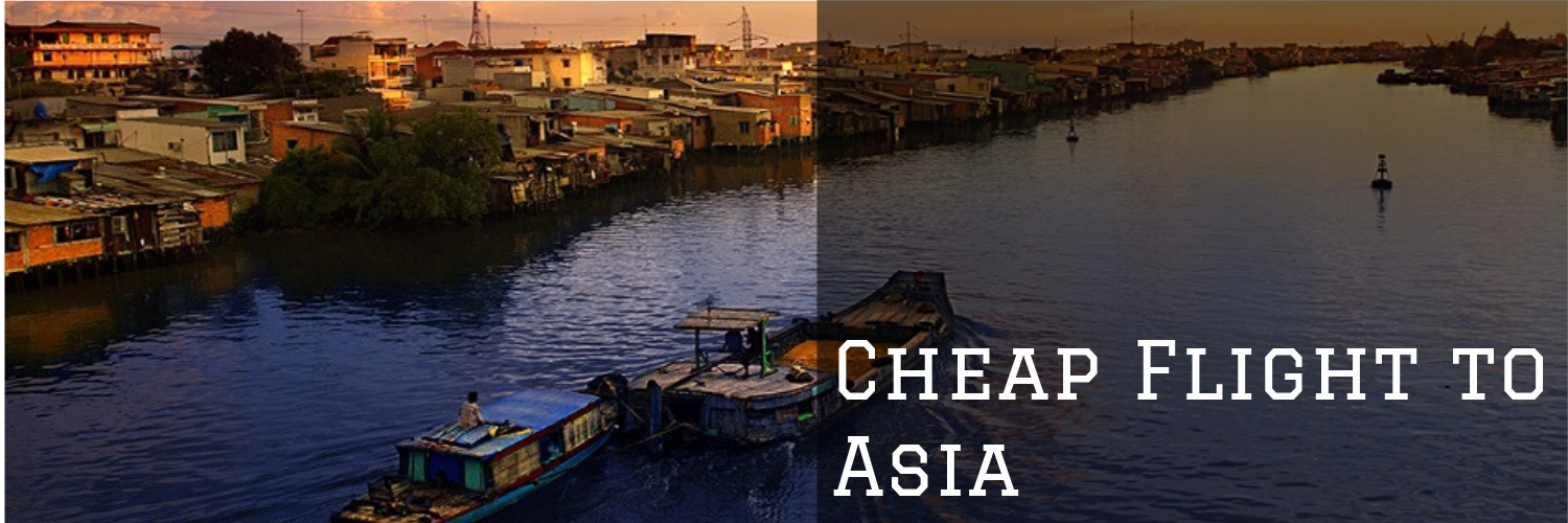 Cheap Flights to Asia banner